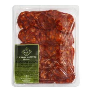 Chorizo semicular dulce - Bandeja 200g. - Embutidos Sobrón