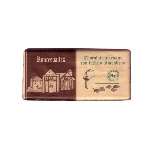 Chocolate con leche y almendras Roncesvalles