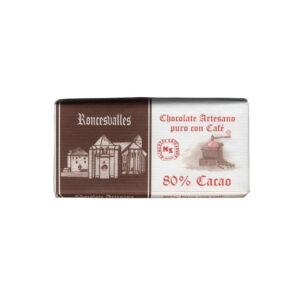 Chocolate negro 80% cacao y café