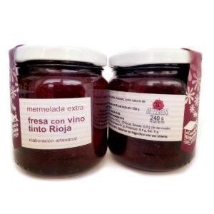 mermelada de fresa con vino tinto